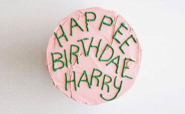 Happee Birthdae Harry cake