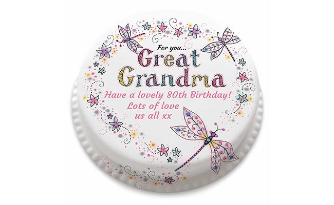 Poster cake for Grandma