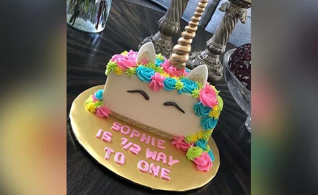 Half Unicorn Cake