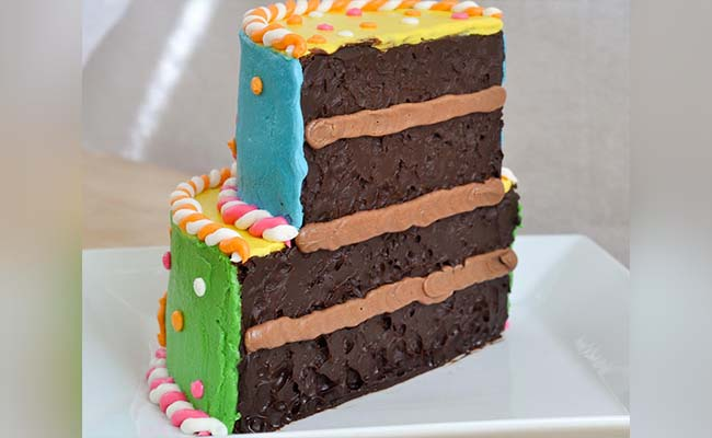 Half Chocolate Cake