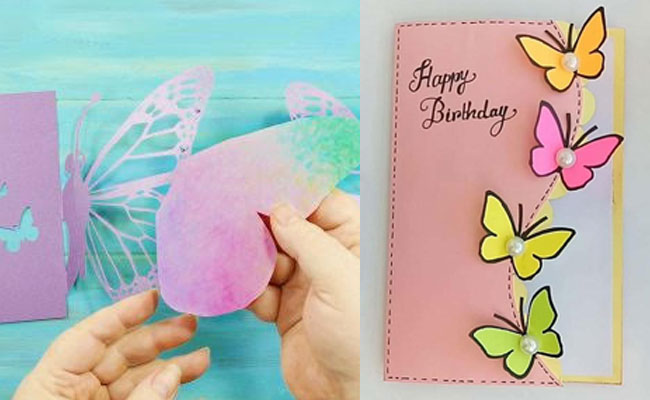 Butterfly Handmade Birthday Card