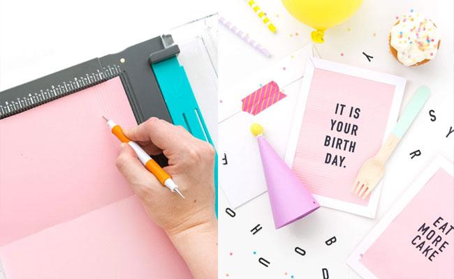 Letterboard DIY Birthday Card