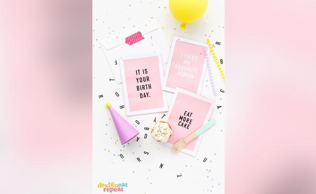 Handmade LetterBoard Birthday Card