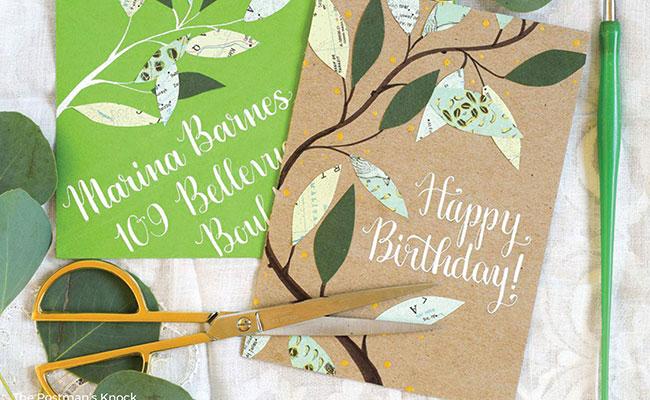 Handmade Leafy Card