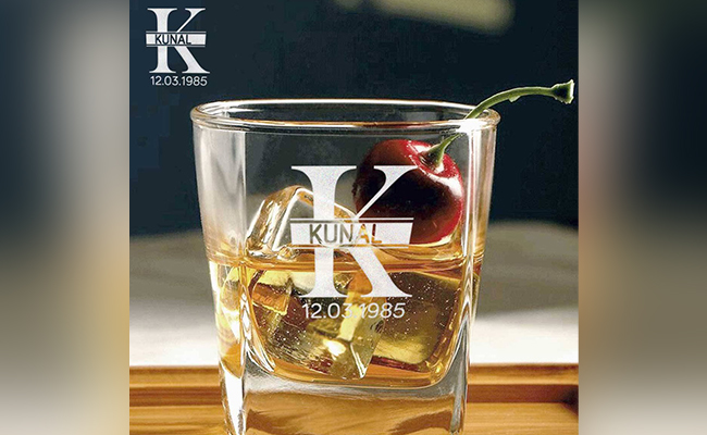 Personalised Alphabet Whisky Glass For Best Friend