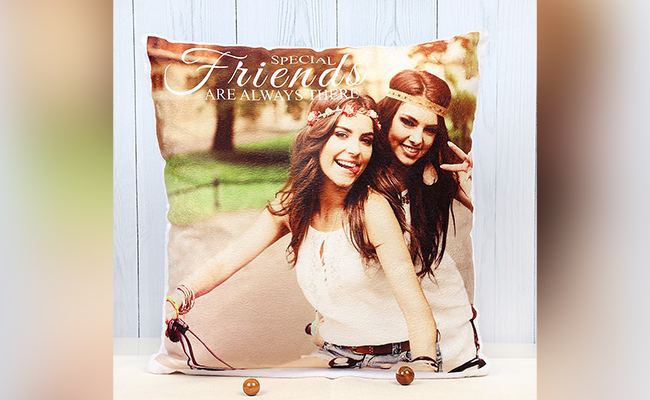 Personalised Always There Cushion For Best Friend