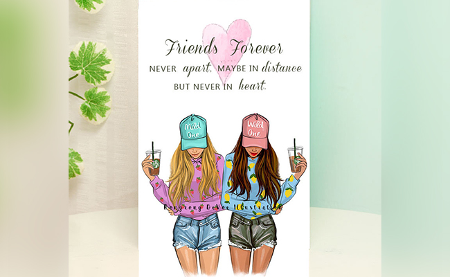 Personalised Friends Forever Card For Best Friend