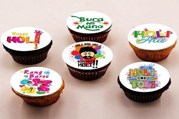 Holi Cupcakes