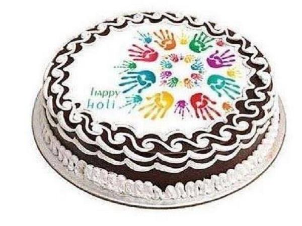 Regular Holi Cake