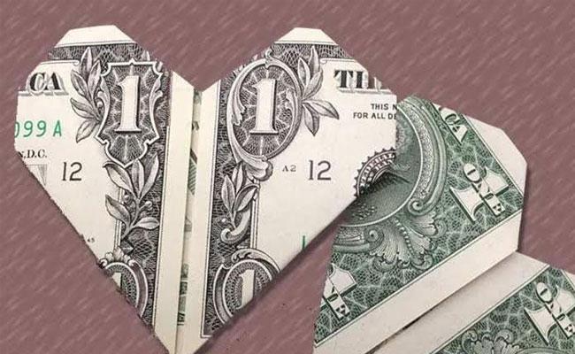 Money Origami for Husband