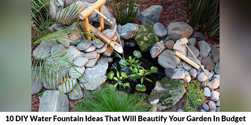 DIY Water Fountain Ideas That Will Beautify Your Garden