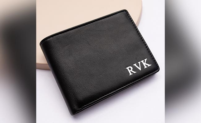 Personalised Leather Wallet For Colleague