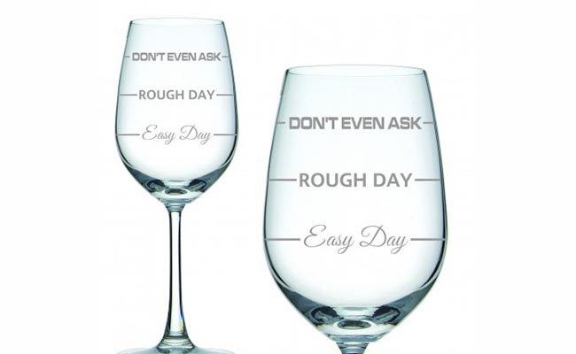 Personalised Wine Glasses For Colleague