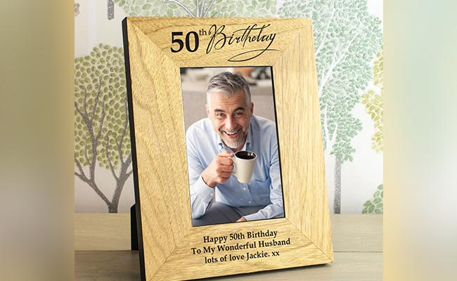 Personalised Wooden Photo Frame For Colleague