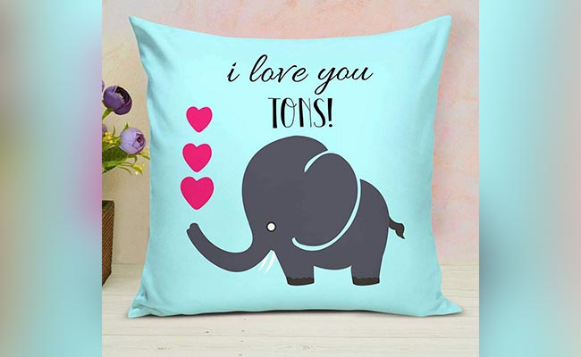 I Love You Personalised cushions for Girlfriend