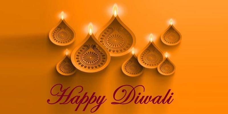 Diwali celebrations with diyas