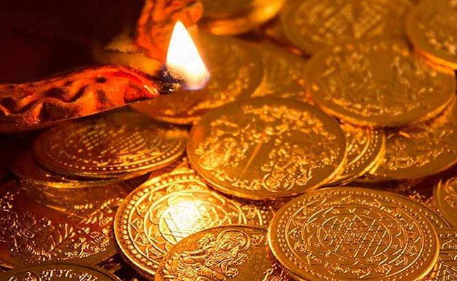 gold or silver coins for diwali
