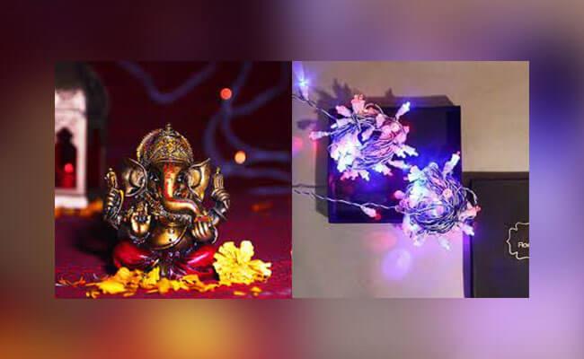 LED Light with Ganpati Murti