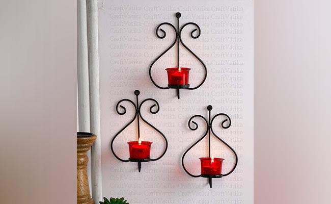 Wall-Mounted Candle Holder