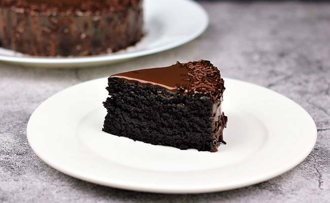 microwave eggless chocolate cake recipe