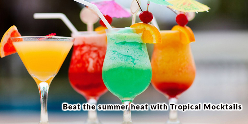 Beat the summer heat with Tropical Mocktails
