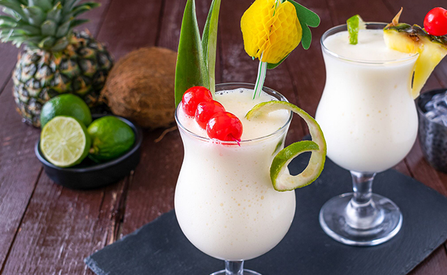 Pina Colada - A non-alcoholic tropical drink