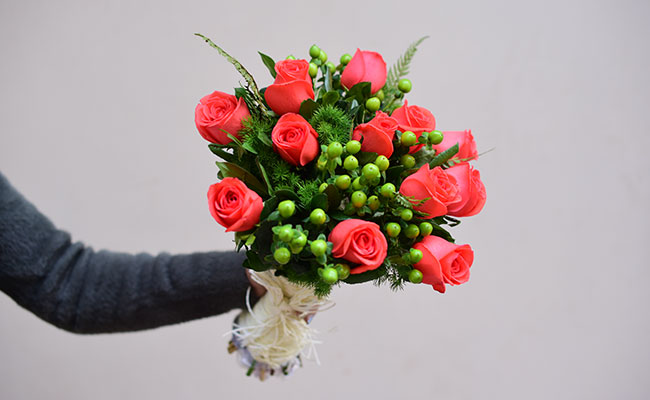 Start the day with flowers bouquet
