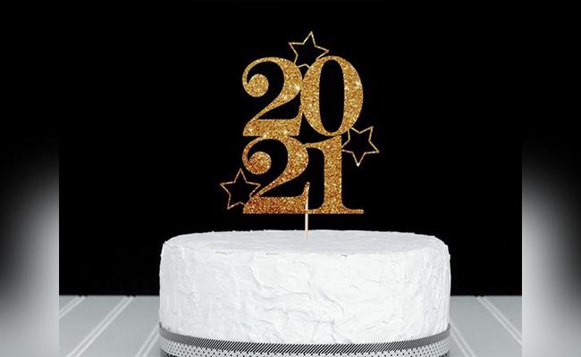 2021 Stars New Year Cake
