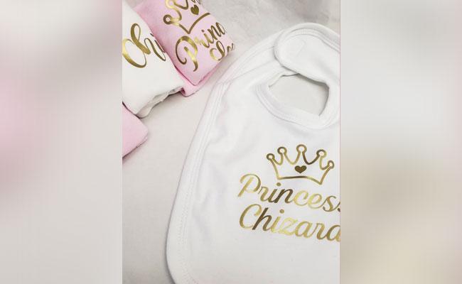 Personalised Bib for Newborn Baby