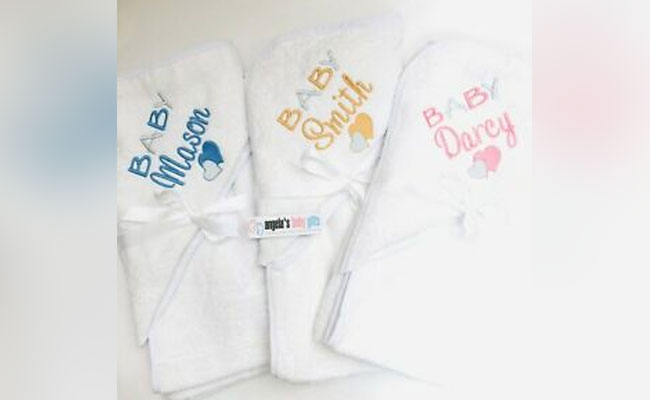 Personalised Bath Towel Gift for Newborn