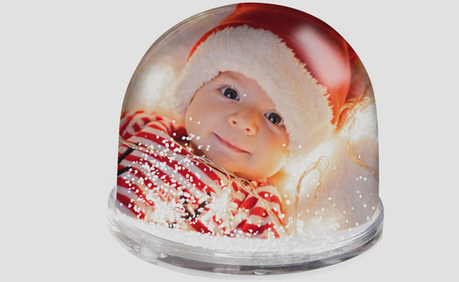Personalised Snow Glow for Newborns