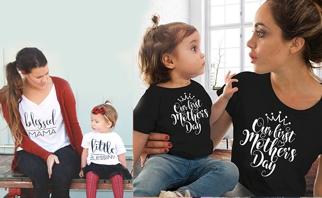 Mama-Baby Matching Outfits - A One of the Best First Mothers Day Gift for New Mom