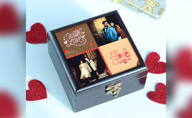 Personalised chocolate box