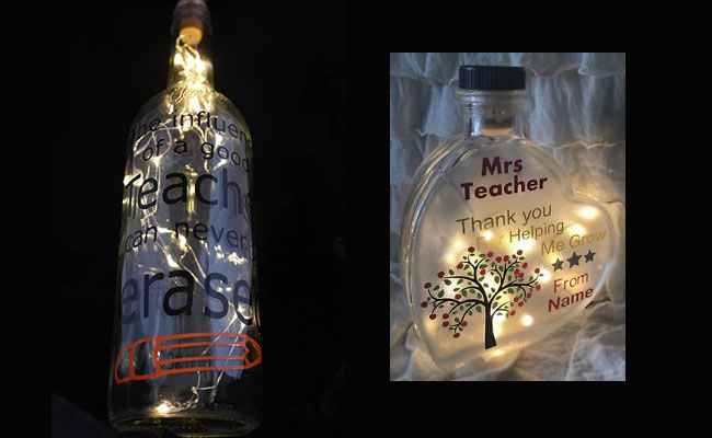Personalised lamp for teacher