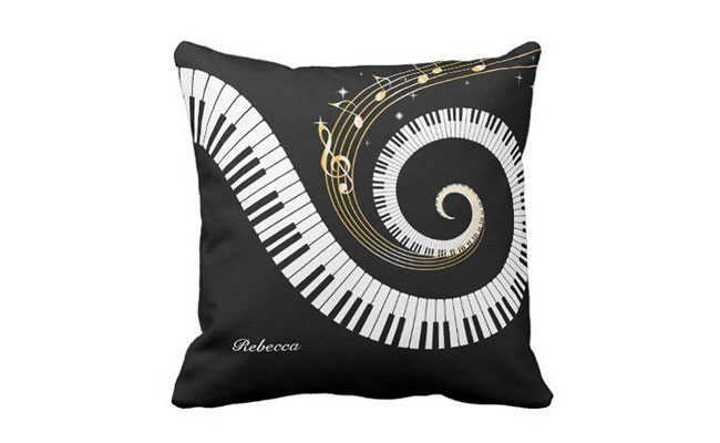 Personalized Music Note Cushion
