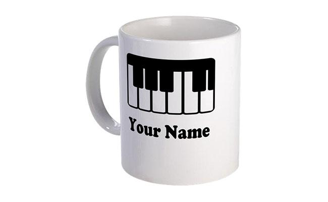 Personalized Piano Print Mug