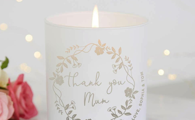 Personalized mommy led candle