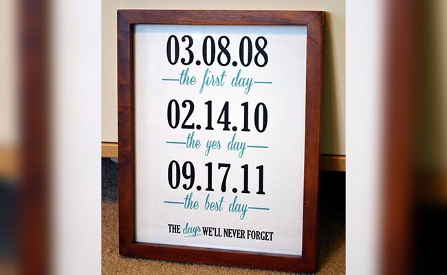 Personalised Date Frame