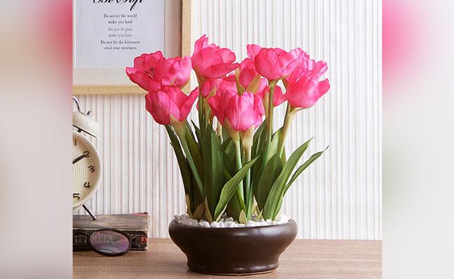Artificial Tulip Flower Plant