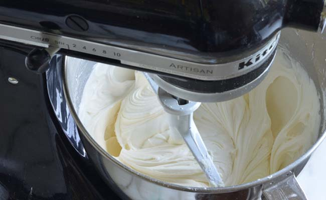 Procedure for frosting