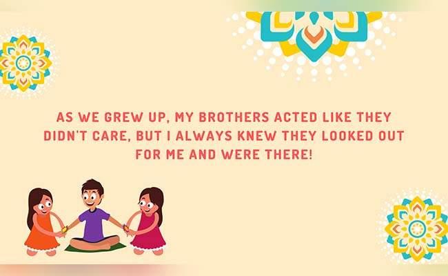 10 Lovely Raksha Bandhan Quotes For Brother 3