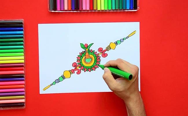 A Beautiful And Colourful Rakhi