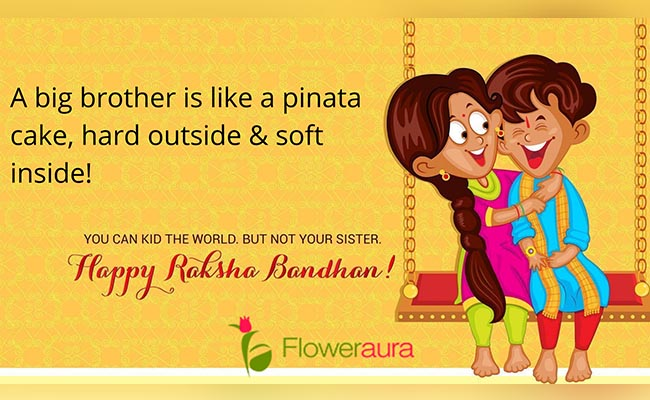 A big brother is like a pinata cake