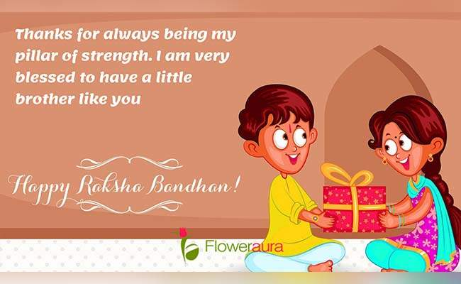 Cute Raksha Bandhan Quotes For Little Brother 1
