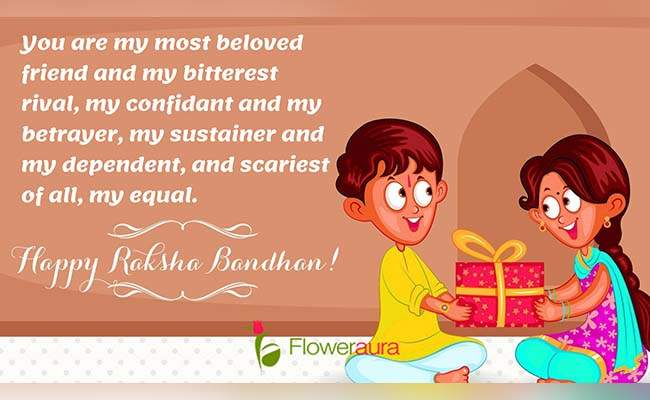 Cute Raksha Bandhan Quotes For Little Brother 10