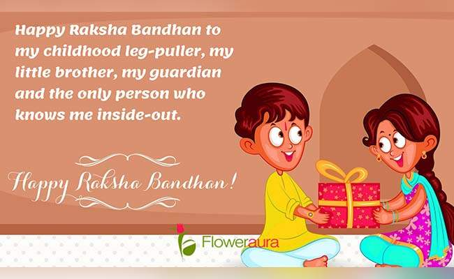 Cute Raksha Bandhan Quotes For Little Brother 2