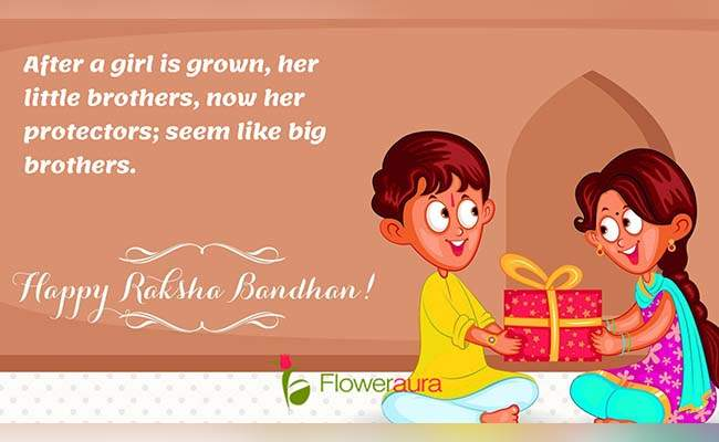 Cute Raksha Bandhan Quotes For Little Brother 7