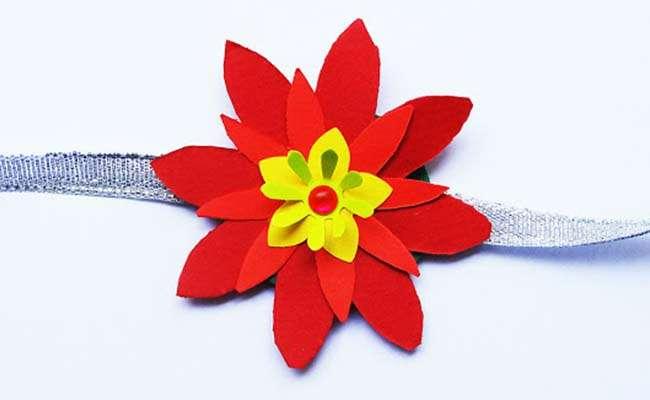 Flower Rakhi using foam