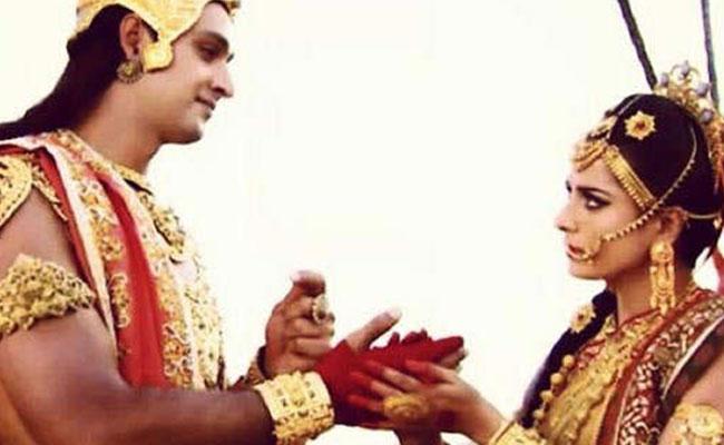 Krishna and Draupadi
