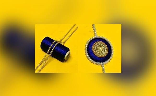 Make Simple Wool Rakhi At Home During Lockdown